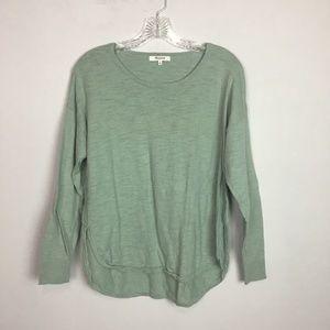 Madewell oversized sweater mint hi low medium